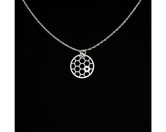 Honeycomb Necklace - Honeycomb Gift - Honeycomb Jewelry