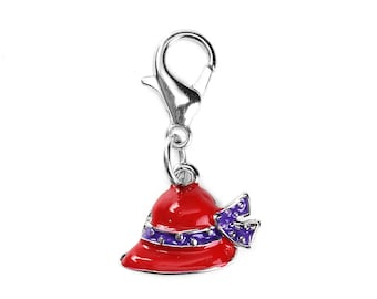 Red Hat Society Charms - Clip-On - Ready to Wear - Package of 10 Charms