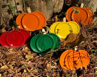 Mason Jar Lid Pumpkin and Apple Magnets (Fall Festival Pack)