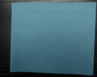 Embroidery patchwork cotton plain blue sky. 54 x 39 cm