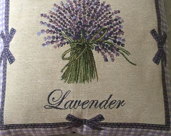 Lavender-themed booster cushion