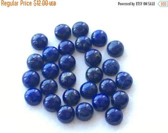 Exclusive Quality Natural Lapis Lazuli Round Smooth Polished Cabuchons 3 mm , 10 pcs