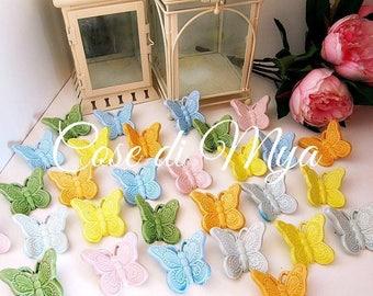 Multicolor ceramic butterflies