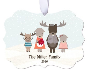 Moose Ornament Christmas Ornament Personalized Ornament Moose Christmas Ornament Family Ornament Personalized Christmas Ornament RyElle