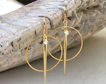 Hoop Earrings, Hoop Earrings Gold or Silver, Gold or Silver Large Hoop Earrings, Large Hoop Earrings, Statement Hoop Earrings, Gold Hoops