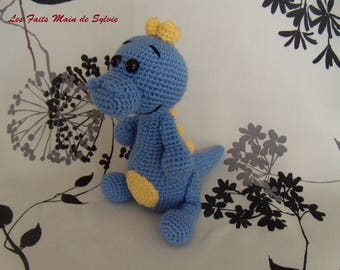 Little blue dinosaur crochet