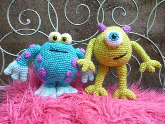 Amigurumi Monsters Inc : Scary gary and horrid harry amigurumi crochet pattern