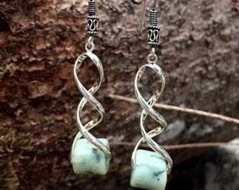Northern California Botryoidal Jade Bead Earrings