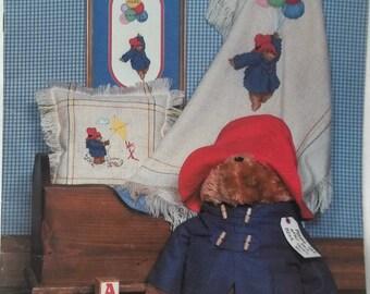 Paddington Bear Cross Stitch Vintage Pattern Leaflet, Designs For Child