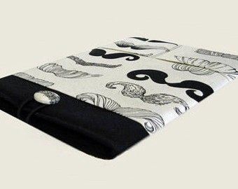 Macbook Air Sleeve, Macbook Air Cover, 11 inch Macbook Air Case, 11 Inch Macbook Air Cover, Laptop Sleeve, Mustaches