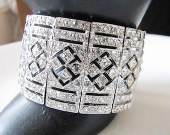 rhinestone wedding bracelet, Bridal bracelet,  crystal bracelet, bridal jewelry, wedding accessories, bridesmaid bracelet, crystal wedding