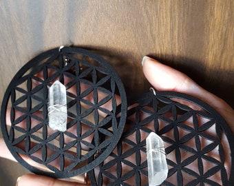 Quartz Geo Earrings