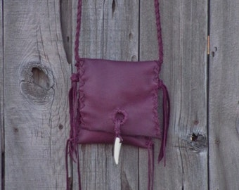 Burgundy leather, ready to ship, crossbody phone bag , Soft leather purse