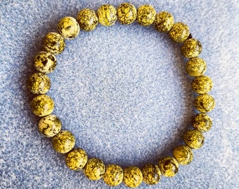 Russian Serpentine Bead Bracelet - 8mm Beads