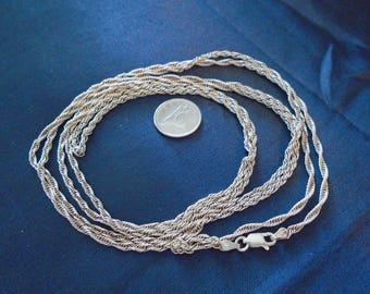 """Milor Prince of Wales Chain 2mm and 52.25"""" Sterling Silver Necklace"""