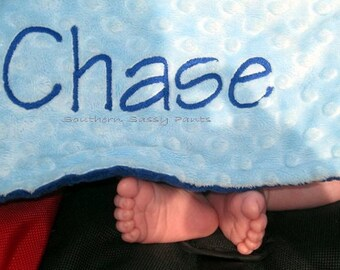 Personalized Baby Blanket , Baby Boy Blanket , Stroller Size Blanket 30x40, You Design - Choose Your Own Patterns, Colors
