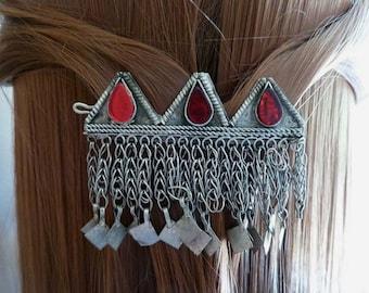 Vintage Kuchi Barrette, Ethnic Hair Adornment