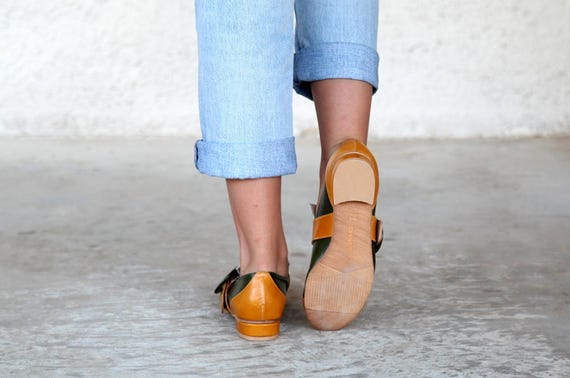 for shoes leather Close Green shoes Israeli shoes Shoes Handmade Yellow women flat Women shoes Yellow Yellow shoes oxfords shoes zIUnfqd