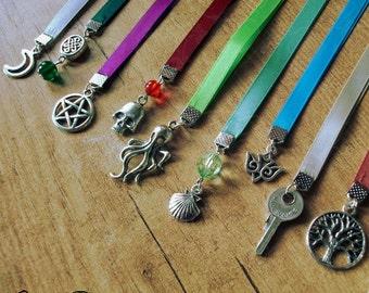 Satin ribbon bookmarks