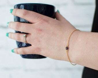Delicate bracelet - charm bracelet - thin gold bracelet - layered bracelet - dainty gold jewelry - chain bracelet - gold stackable bracelet