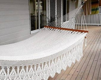 White Hammock, with beautiful lateral adornment