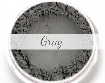 Gray Eyebrow Powder Sample - Vegan Mineral Eye Brow Powder Grey Net Wt .4g Mineral Makeup Pigment