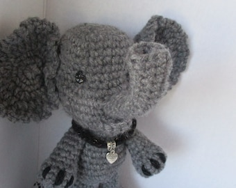 Elephant-Crochet Elephant Doll, Crochet Animal, Ready to ship