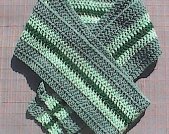 Shades of Green Winter Scarf
