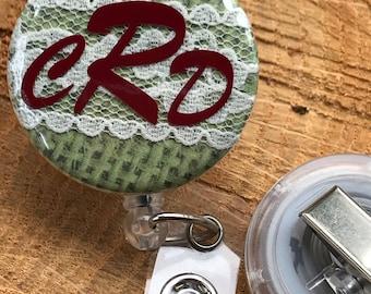Personalized badge reel, Personalized badge holder, Personalized badge, Nurse badge reel, Badge reel nurse, Monogrammed badge reel