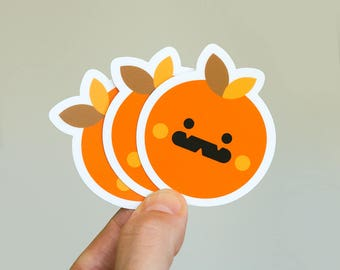 TOMATTE Scary Mood, Cool Macbook Sticker, cute fruit Stickers, buy cute stickers, small custom sticker, cool skateboards decal, iphone decal