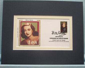 Academy Award Winner Bette Davis and First Day Cover of her own stamp