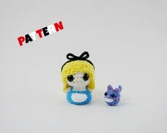 Amigurumi Alice in Wonderland Pattern, Amigurumi Cheshire Cat Pattern, Alice Pattern, Crochet Doll Pattern, Amigurumi Doll Pattern, Toy Doll