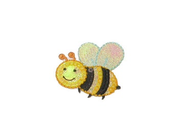 Pretty Bee Iron On Appliques x 2