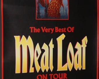 MEAT LOAF On Tour A Spectacular Concert Rare Orig Official German Concert POSTER