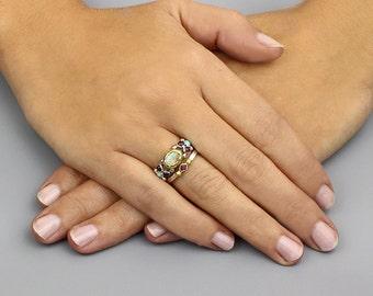 Boho engagement ring | Etsy