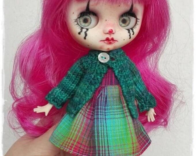 LIA Gothic clown Middie Blythe custom doll by Antique Shop Dolls