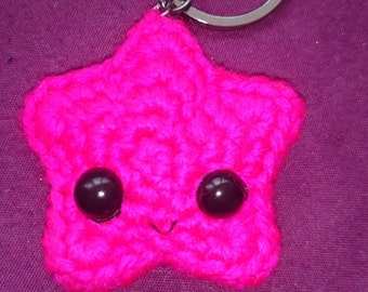 Super cute amigurumi star keychain
