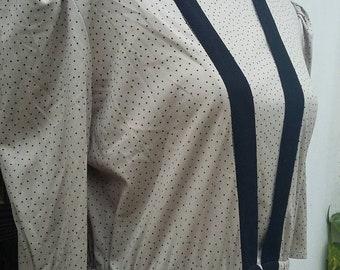 Peplum polka Vintage Dress Size: L UK 14 USA 12