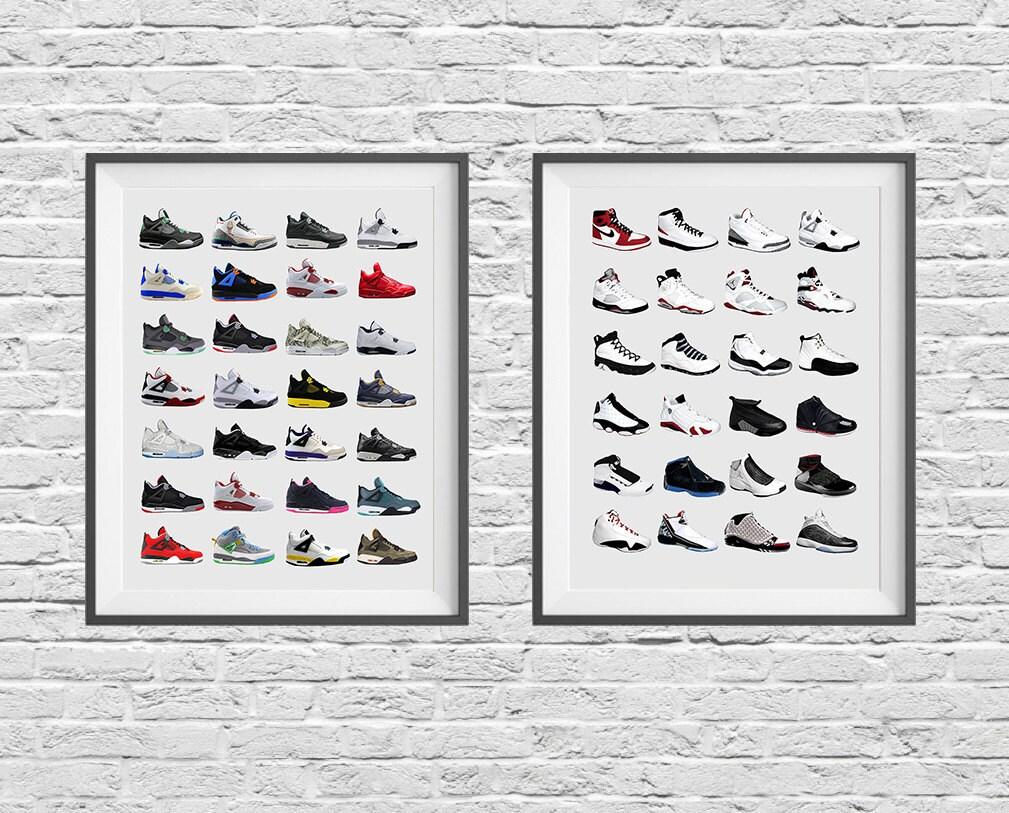 Nike zapatillas Poster Set Nike zapatos Nike cartel Air