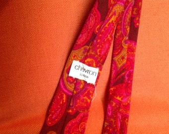 Men's 1960s Mod Paisley Tie