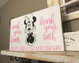 Minnie Mouse Bathroom Sign