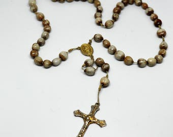 Catholic Rosary Made With Jobs Tears (Wild Grass Seed)
