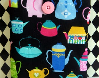 Kindle Cover Sleeve ~ Teapots