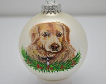 Custom Hand Painted Pet Christmas Ornament