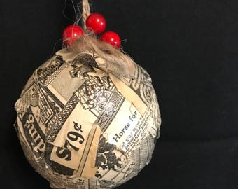 Handmade Recycled ornaments