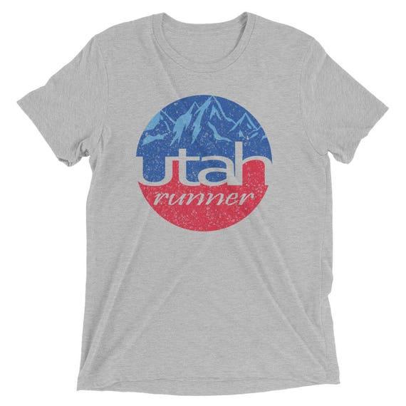 Men's Utah Runner Triblend T-Shirt - Run Utah - Men's Short-Sleeve Running Shirt