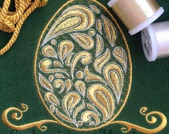 EASTER EGG machine embroidery design. Easter embroidery. Egg design. Easter ornament. Easter Egg pattern. Ornament Egg. Instant download