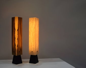 Table Lamp table Light wood veneer led design