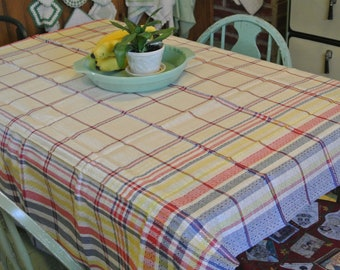 New Old Stock Bestmaid Tablecloth Plaid Tablecloth Vintage Tablecloth Made in USA