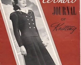 1941 Wonoco Designs Journal of Knitting 40's Fashion Catalog